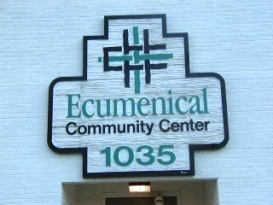 [Photo: Old Ecumenical Community Center Entrance at 1035 3rd Avenue Southeast]