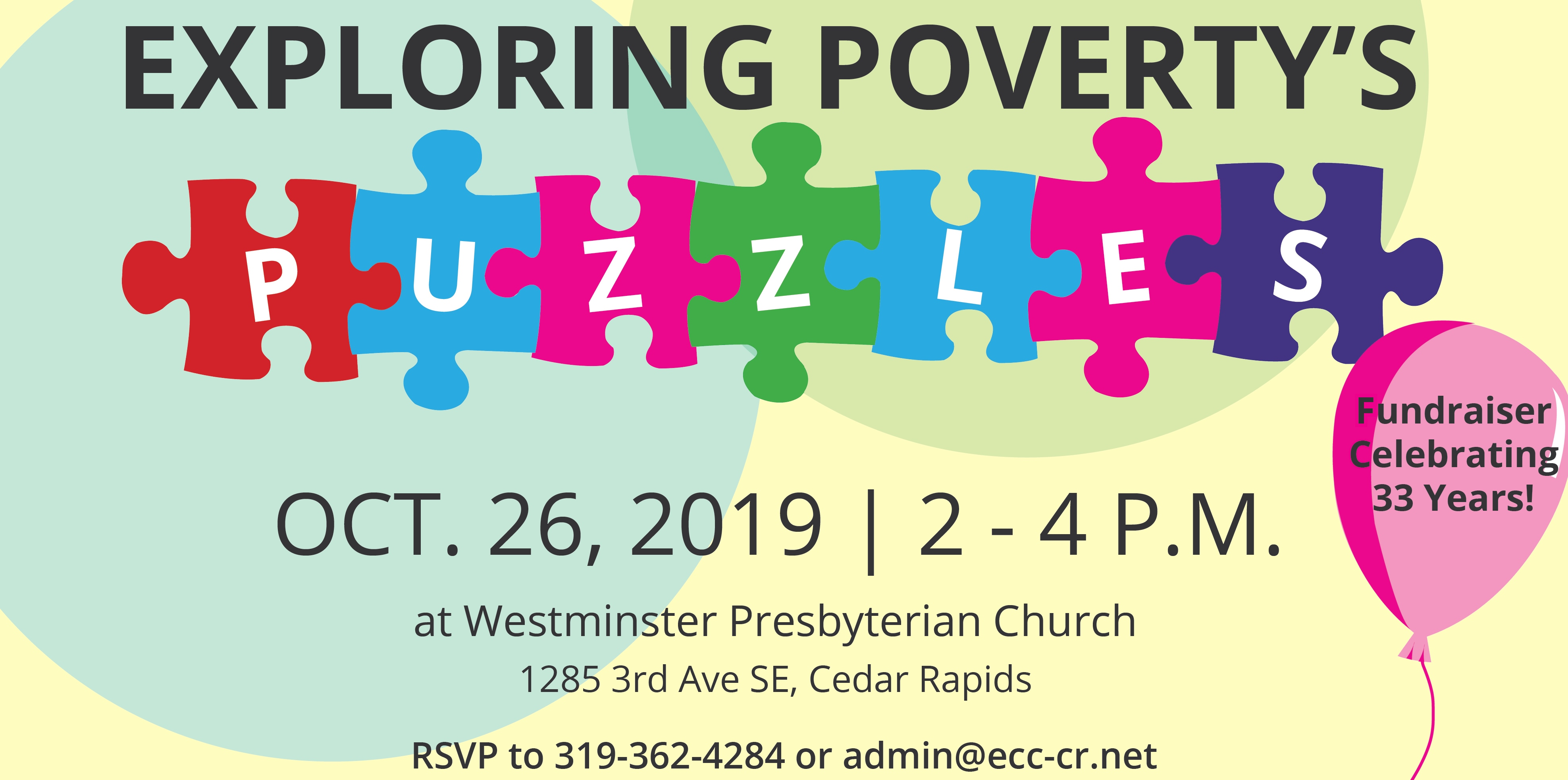 Exploring Poverty's Puzzles Save The Date Card